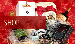 gifts, gourmet foods, chocolates, panettones
