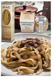 Tagliatelle pasta with Porcini mushroom and Truffle with a basil sauce