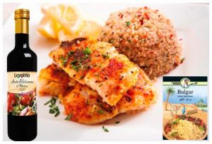 Balsamic fish fillet with Bulgur