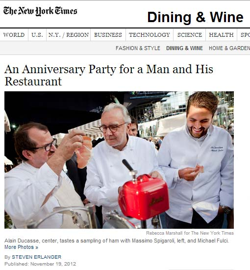 An Anniversary Party for a Man (Alain Ducase) and His Restaurant